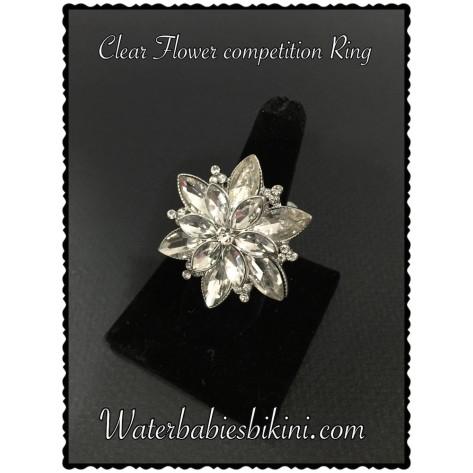 Clear Flower Stretch Ring