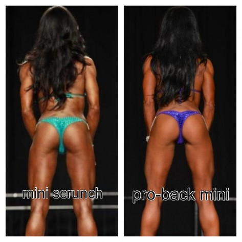 Custom Competition Bikini Bottoms - Pro Mini Scrunch