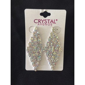 Crystal AB Diamond Shaped Earrings