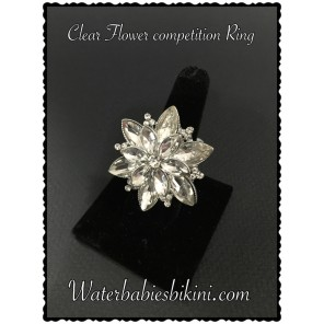 Clear Flower Stretch Ring