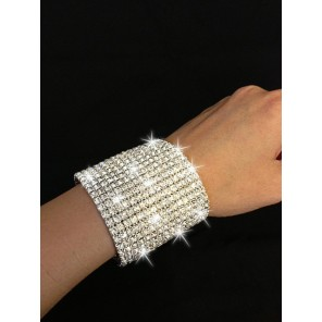 Extra Wide Crystal Stretch Bracelet