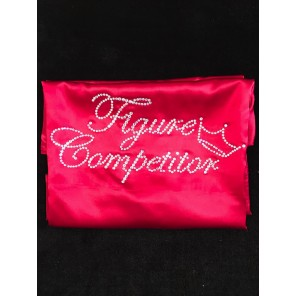 Figure Competitior's Satin Robe-Burgundy