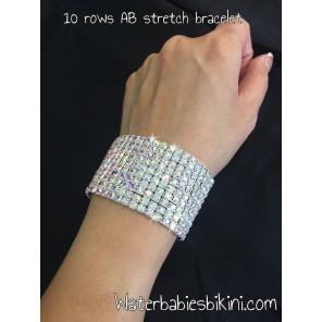 Sparkling AB Crystal Stretch Bracelet