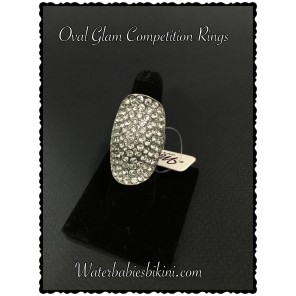 Oval Glam- Stretch Ring