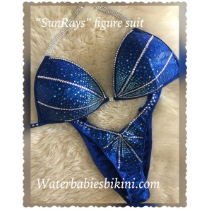 Intermediate 107- Sun Rays Blue Competition Figure suit