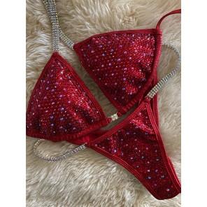 True Color- Red Bling Bikini